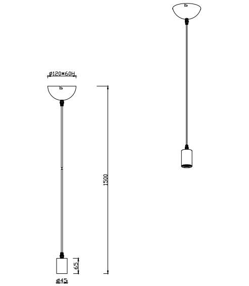 Подвесной светильник Cord 310100108, TRIO lighting