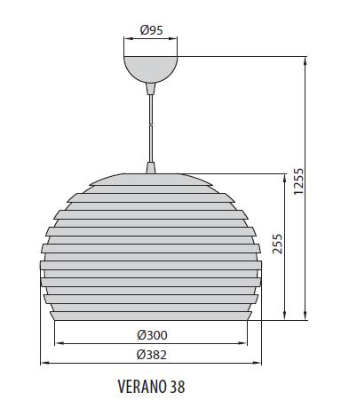 Verano 38 светильник подвесной, Brilum