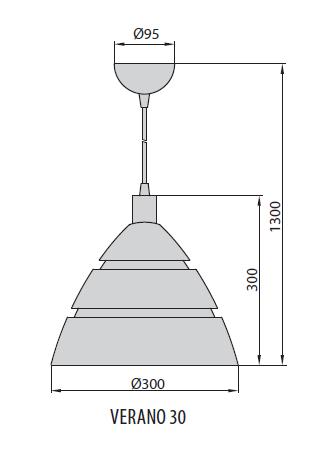 Verano 30 светильник подвесной, Brilum