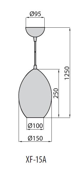 XF-15A светильник подвесной, Brilum