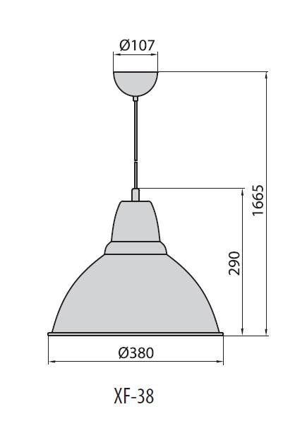 XF-38 светильник подвесной, Brilum