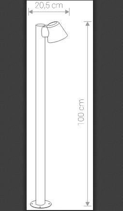 Светильник SOUL графит 9557 внешний