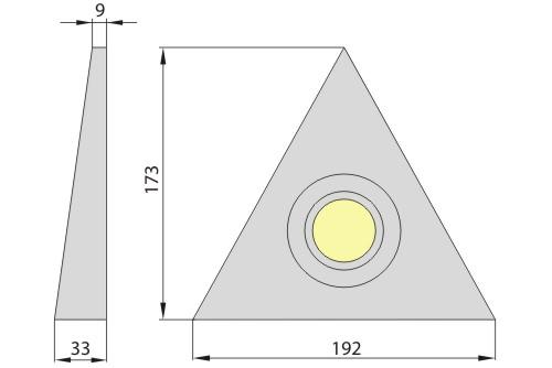Светильник M-120S античное золото, Brilum