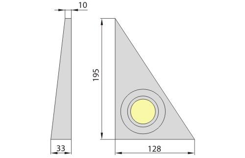 Светильник M-142 сатин хром, Brilum