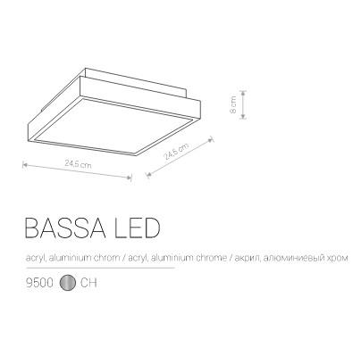 Накладной BASSA LED 9500
