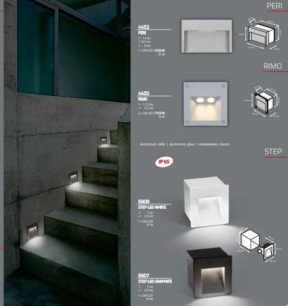 Светильник STEP LED WHITE 6908 врезной