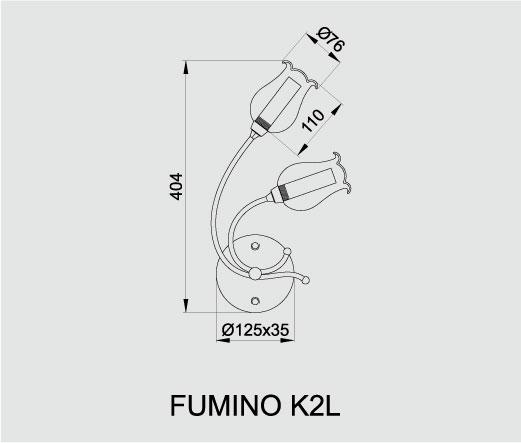 Бра Fumino K2L, Brilum