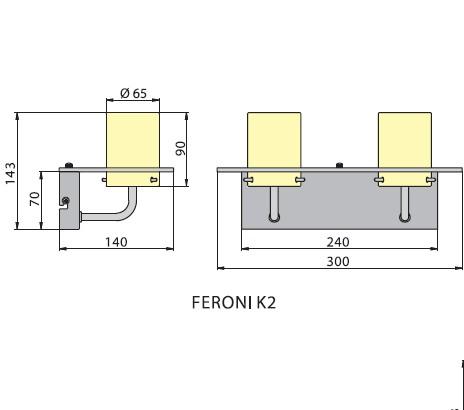 Бра FERONI K2, Brilum
