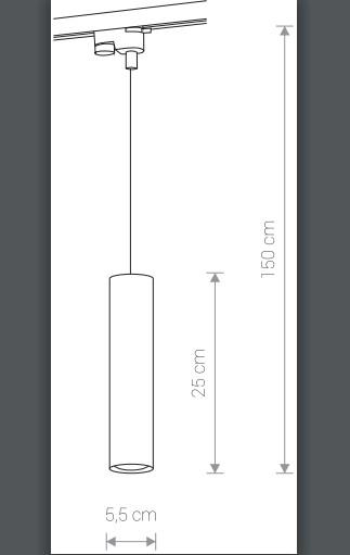 Светильник PROFILE BIT 9337, трековый