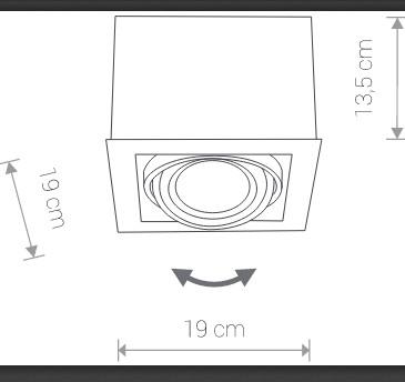 Светильник BOX ES111 белый 9497, накладной