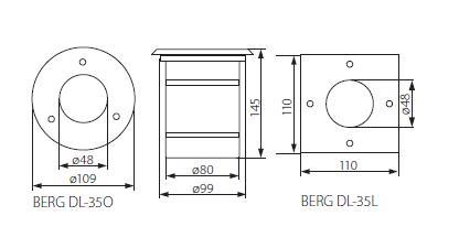 Светильник BERG 7170 грунтовый