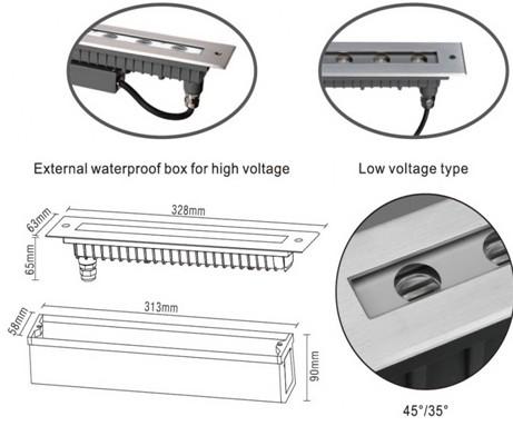 Светильник грунтовой LED4502C 12W 3000K 24В 25°