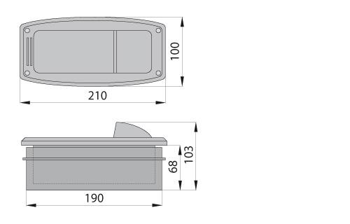 Светильник ASCAR 10A серый, ELGO