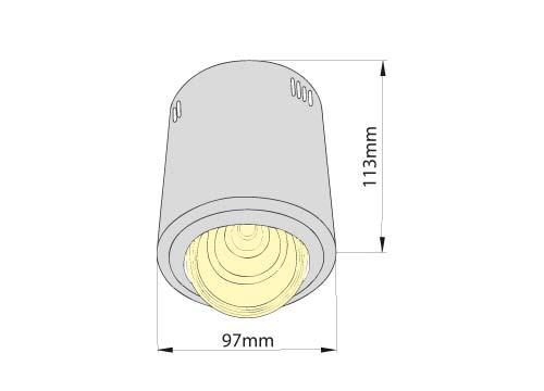 Светильник накладной с поворотом AVIS 7W LED, Brilum