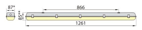 Светильник герметик линейный HERMETIC 136E IP65, ELGO