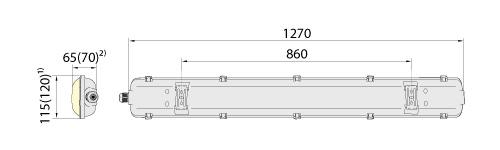 Светильник герметик линейный HERMETIC Eco 120-2 IP65, ELGO