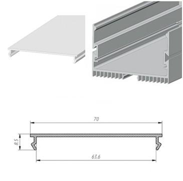 Профильный линейный PSN 70, накладной