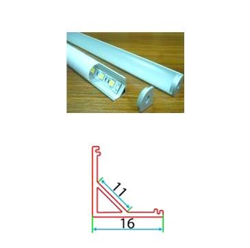 Профильный линейный PSNg 16-1, накладной угловой
