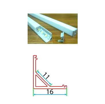 Профильный линейный PSNg 16, накладной угловой