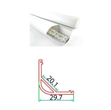 Профильный линейный PSNg 30-1, накладной угловой