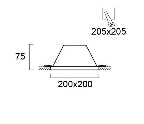 Светильник точечный гипсовый 4116400, Viokef