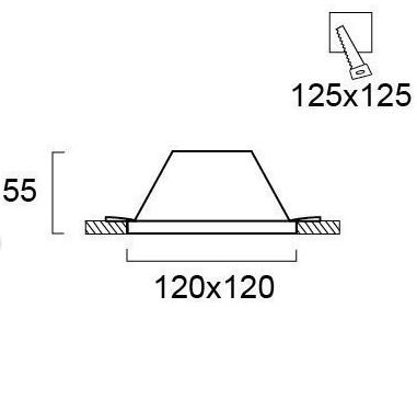 Светильник точечный гипсовый 4116000, Viokef