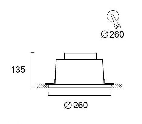 Светильник точечный гипсовый 4097400, Viokef