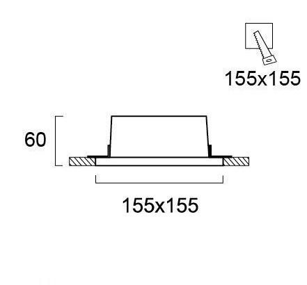 Светильник точечный гипсовый 4081100, Viokef