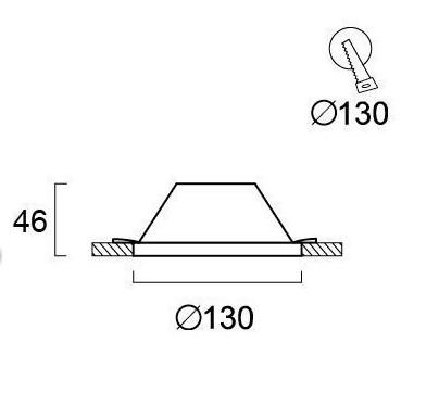 Светильник точечный гипсовый 4071500, Viokef