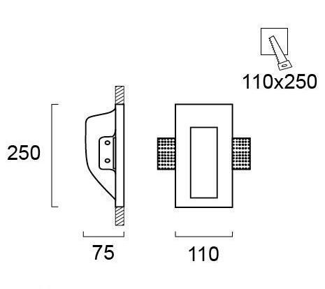 Светильник точечный гипсовый 4086600, Viokef
