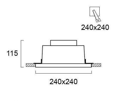 Светильник точечный гипсовый 4097500, Viokef