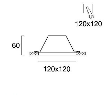 Светильник точечный гипсовый 4071400, Viokef
