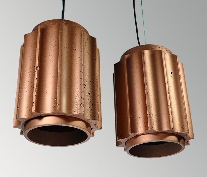 Светильник бетонный подвесной ГРОТО металлик, AGARA