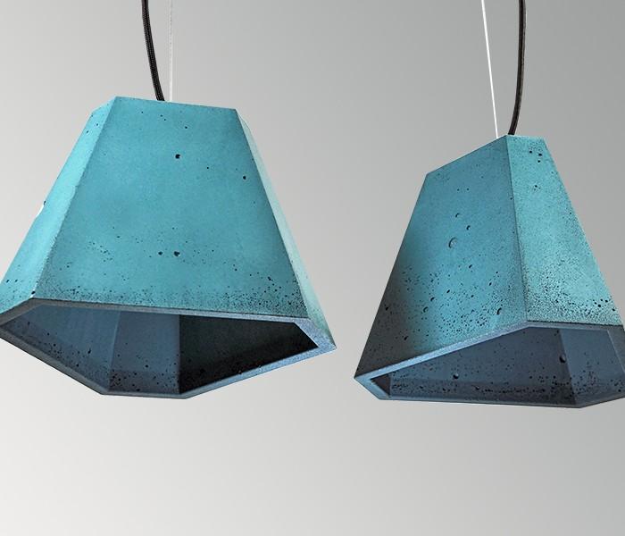 Светильник бетонный подвесной ТРЕГО синий, AGARA