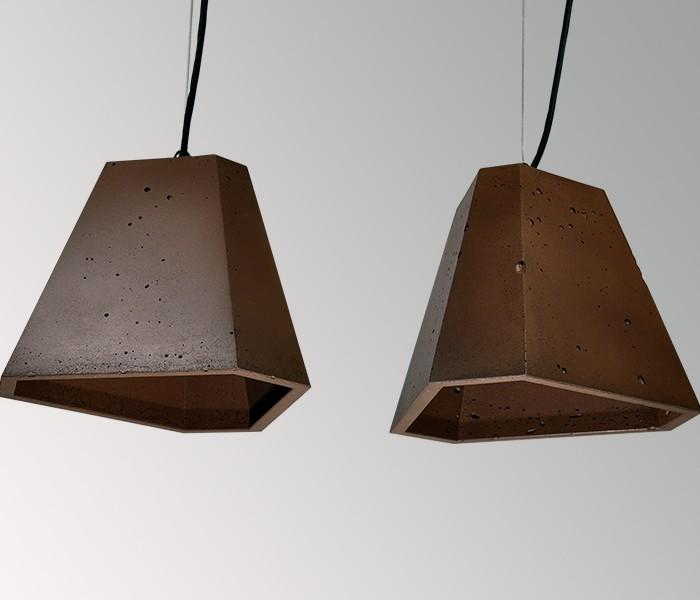 Светильник бетонный подвесной ТРЕГО коричневый, AGARA