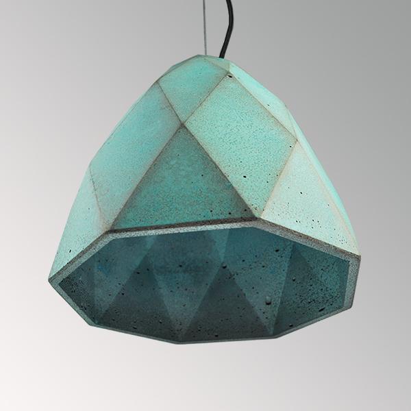 Светильник бетонный подвесной БРИОЛЕТ металлик, AGARA