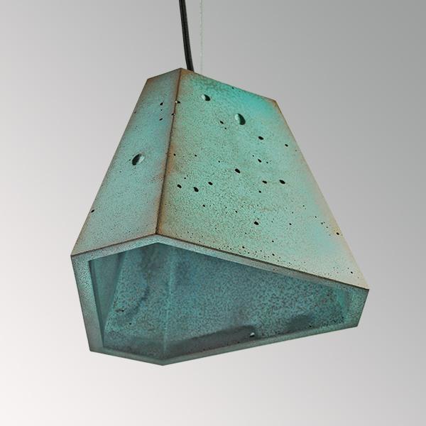 Светильник бетонный подвесной ТРЕГО металлик, окись медь, AGARA