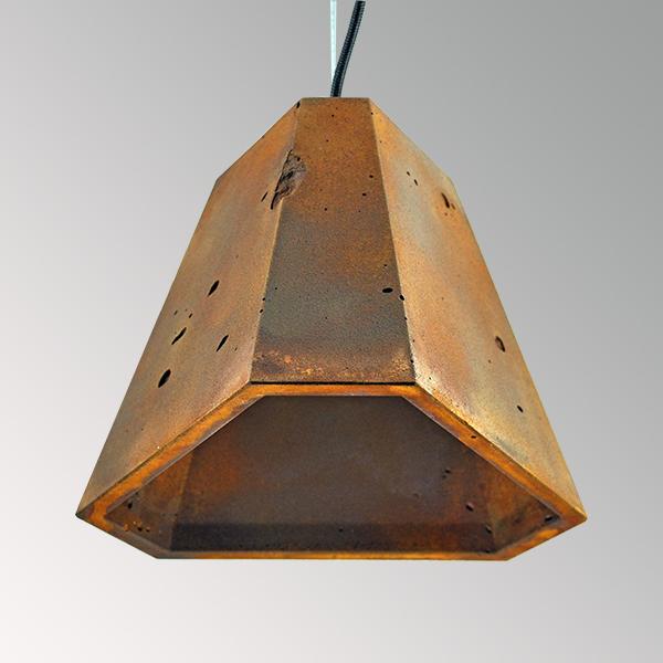 Светильник бетонный подвесной ТРЕГО ржавый металл, AGARA