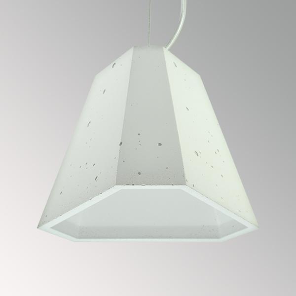 Светильник бетонный подвесной ТРЕГО белый, AGARA