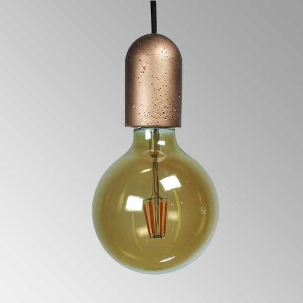Светильник бетонный подвесной Бочонок в цвете металлик, AGARA