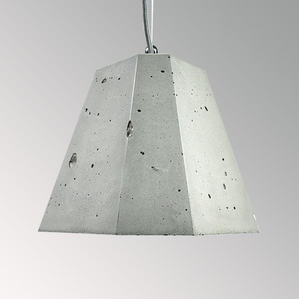 Светильник бетонный подвесной ТРЕГО серый, AGARA