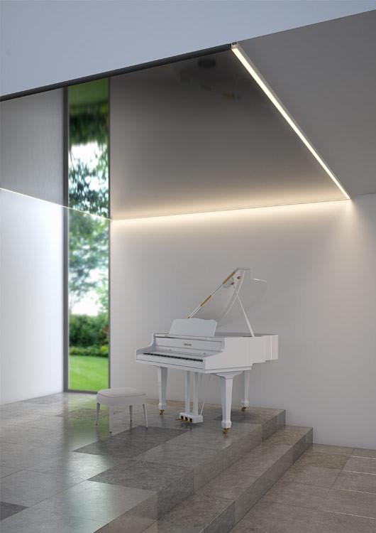 Профиль под LED ленту FOLED-SUF для натяжных потолков, Klus