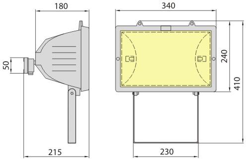 Прожектор B-15 1500W, Brilum
