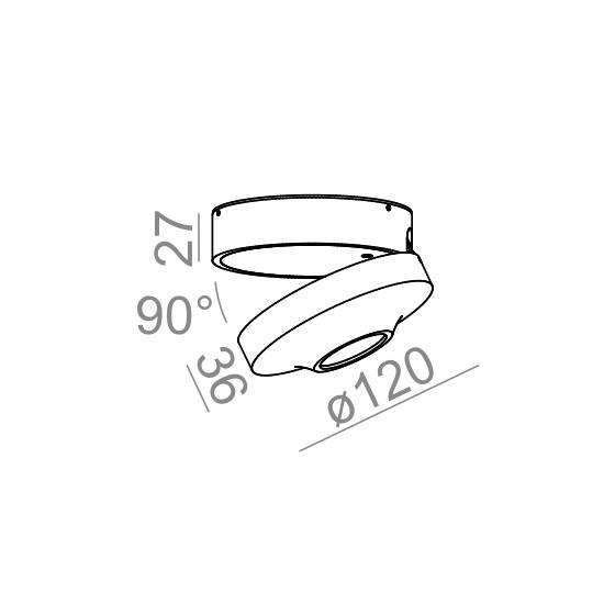 Светильник потолочный AQLED move lens 230V, AQForm
