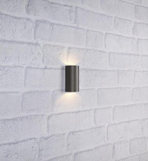 Светильник фасадный двухсторонний LYRA серый 106527, MARKSLOJD