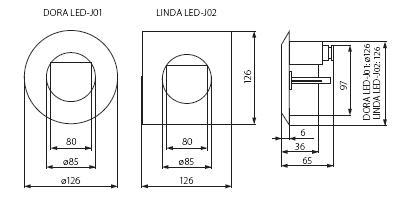 Светильник врезной DORA LED-J01 (04680)