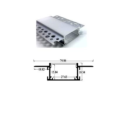 Профиль алюминиевый PSNG 30, врезной под шпаклевку