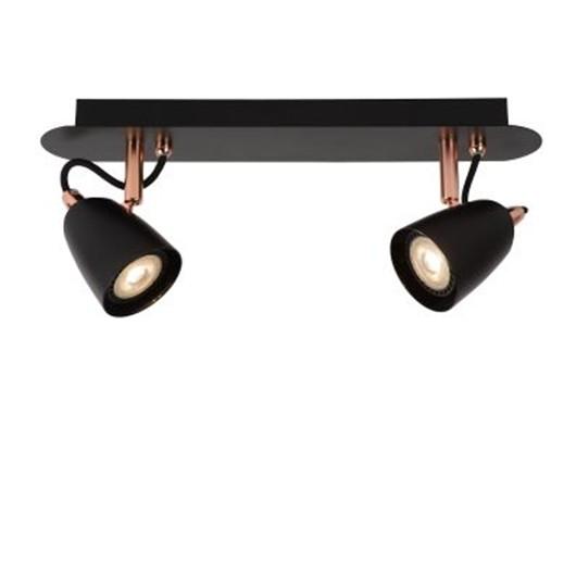 Светильник RIDE LED DIM 2*5W 26956/10/17 черный/медь, Lucide