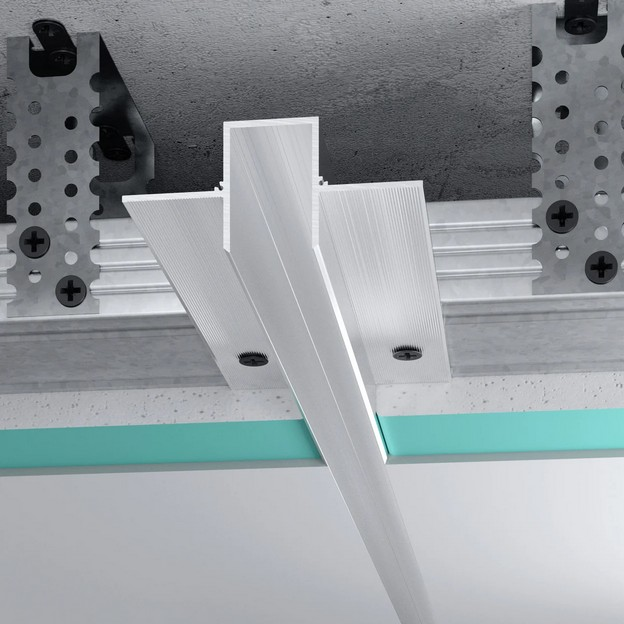 Профиль теневого шва центральный алюминиевый TSHz 2330
