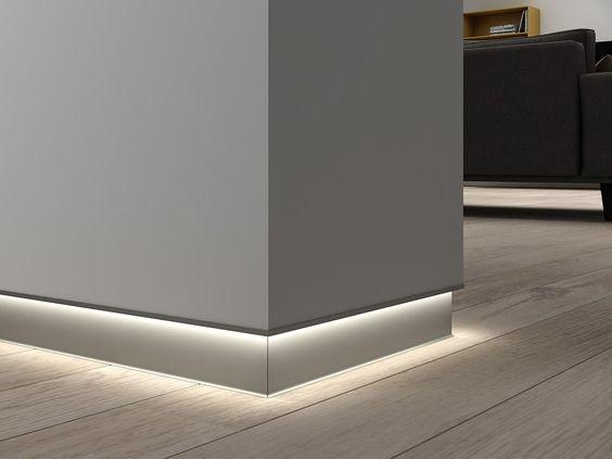 Плинтус скрытого монтажа с LED подсветкой ALPL M100L